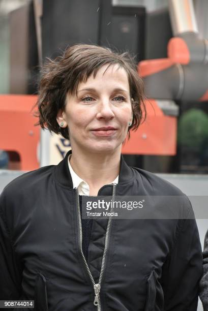 Meret Becker during the Tatort on set Photo Call on January 22 2018 in Berlin Germany