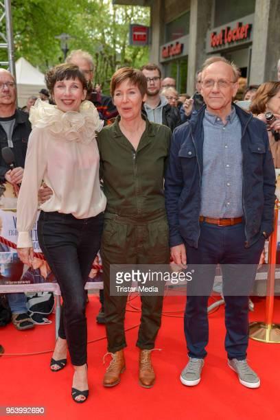 Meret Becker Kerstin Polte and Karl Kranzkowski at the 'Wer hat eigentlich die Liebe erfunden' Premiere In Essen at Lichtburg on May 2 2018 in Essen...