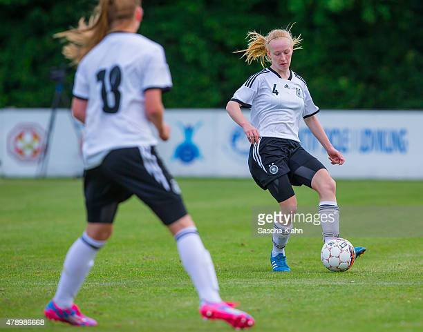 Meret Wittje of Germany during the Girl's Nordic Cup between U16 Germany and U16 Norway at Norre Aaby Stadium on June 29 2015 in Norre Aaby Denmark