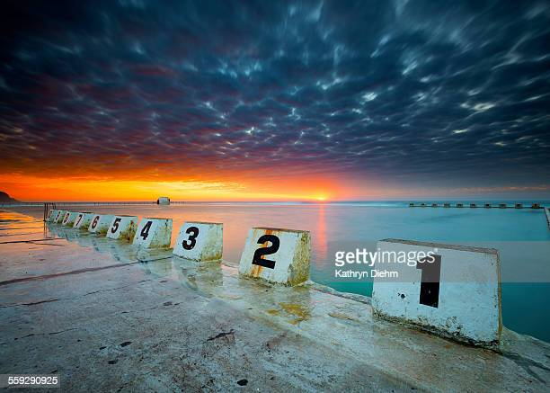 Merewether sunrise ocean baths newcastle