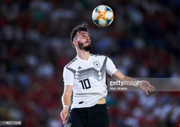 Mergim Berisha of Germany U21 in action during the international friendly between Spain U21 and Germany U21 at Nuevo Arcangel on October 10, 2019 in...