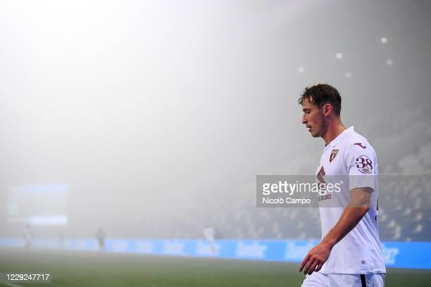 Mergim Vojvoda of Torino FC looks on during the Serie A football match between US Sassuolo and Torino FC The match ended 33 tie