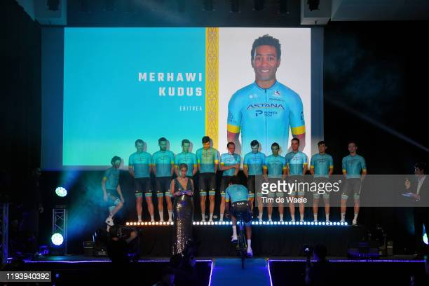 Merhawi Kudus of Eritrea and Astana Pro Team / during the Team Astana 2020 Media Day / @AstanaTeam / #AstanaProTeam / on December 14 2019 in Calpe...