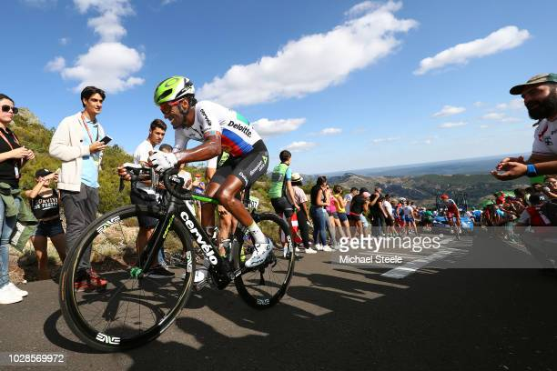 Merhawi Kudus of Eritrea and Team Dimension Data / Alto de la Camperona / Fans / Public / during the 73rd Tour of Spain 2018 Stage 13 a 1748km stage...