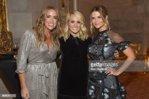 Meri Barnes singersongwriter Carrie Underwood and radio personality Amy Brown attend Nashville Shines for Haiti benefitting Sean Penn's J/P Haitian...
