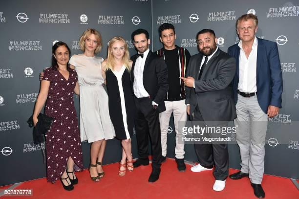 Meriam Abbas, Heike Makatsch, Elisa Schlott, Hassan Akkouch, Mahamed Issa, Kailas Mahadevan and Rainer Furch attend the 'Fremde Tochter' Premiere...