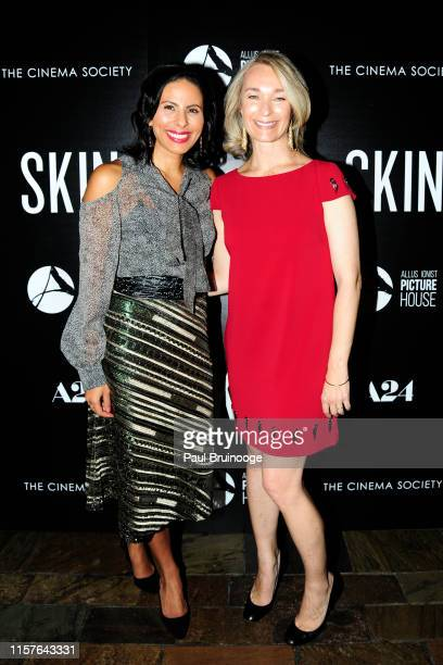 Meriam AlRashid and Celine Rattray attend Allusionist Picture House And The Cinema Society Host A Special Screening Of A24's Skin at The Roxy Cinema...