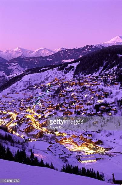 meribel, france - trois vallees stock pictures, royalty-free photos & images