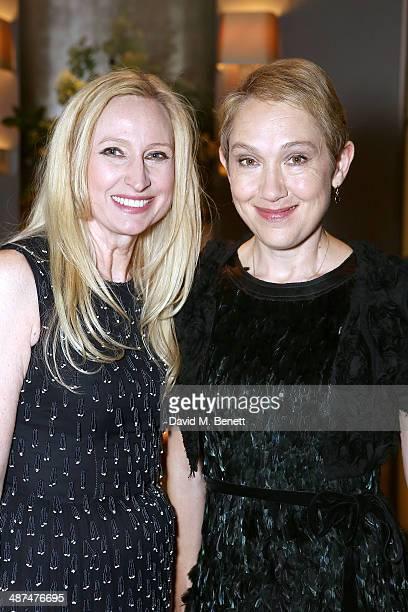 Meribeth Parker Group Publishing Director and Justine Picardie EditorInChief of Town Country attend the launch of Town Country magazine at Fera at...