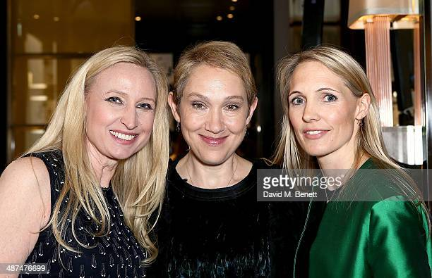 Meribeth Parker Group Publishing Director Justine Picardie EditorInChief of Town Country and Anna Jones CEO of Hearst Magazines UK attend the launch...