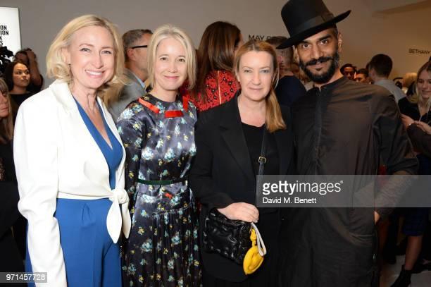 Meribeth Parker Justine Simons Anya Hindmarch and Darrell Vydelingum attend the NEWGEN LFWM June 2018 Breakfast during London Fashion Week Men's June...