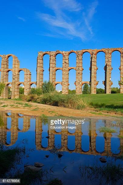 Merida Los Milagros Aqueduct Los Milagros Roman aqueduct Aqueduct of Los Milagros Emerita Augusta UNESCO World Heritage site Ruta de la Plata Via de...