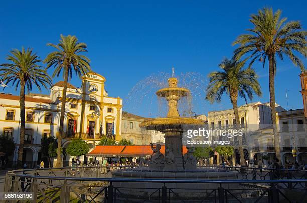 Merida Plaza Espa–a Badajoz province Extremadura Ruta de la Plata Spain