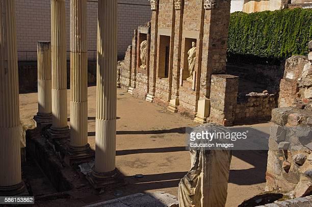 Merida Porch Forum Roman forum of Emerita Augusta Badajoz province Extremadura Spain