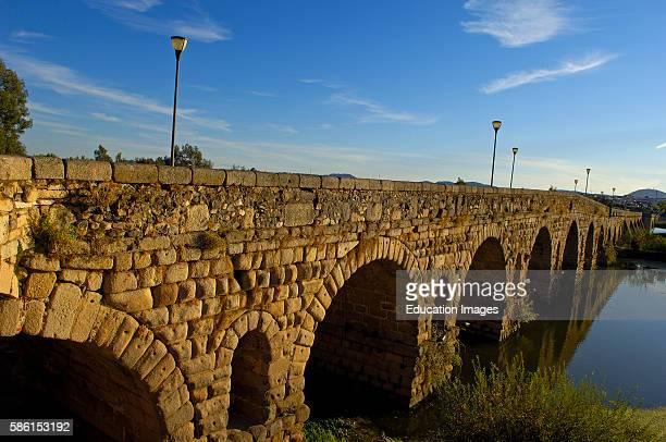 Merida Roman Bridge Guadiana river Badajoz province Extremadura Ruta de la Plata Spain