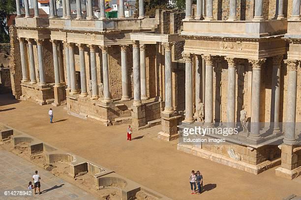 Merida Roman theatre Badajoz province Extremadura Spain