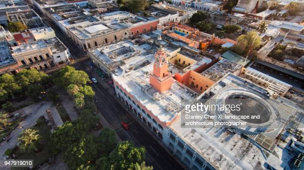 Merida Town Hall from Air