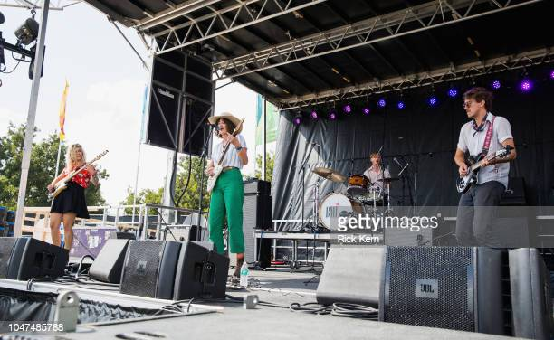 Merideth Hanscom Emily Braden Andrew McFarland and Jack Blauvelt of Neighbor Lady perform onstage during weekend one day three of Austin City Limits...