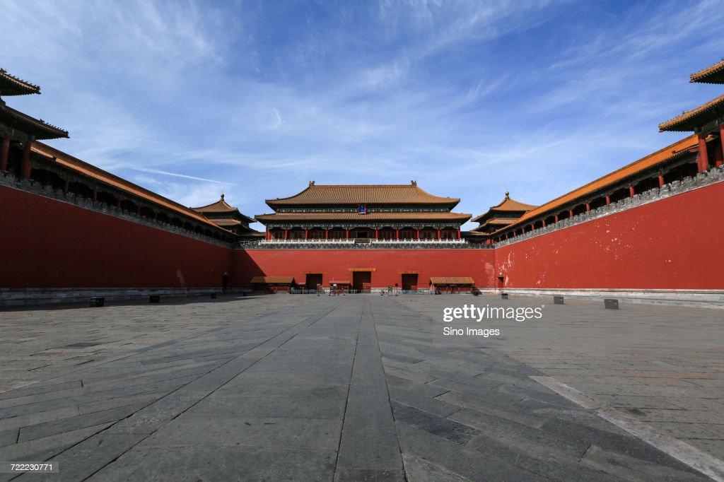 Meridian Gate in Forbidden City, Beijing, China : Stock Photo
