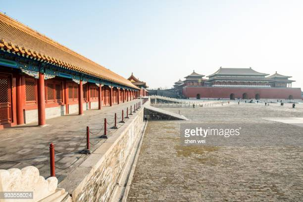 Meridian Gate with the Square in the front during a sunny day, the Forbidden City, Beijing, China