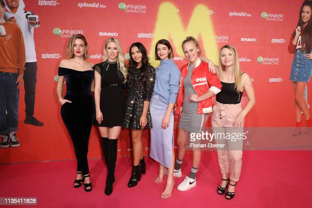 Meriel Hinsching Vivien Wulf Selina Mour LisaMarie Koroll Jolina Marie Ledl and Lisa Kueppers attend the Misfit world premiere on March 9 2019 in...