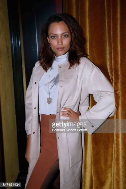 Meriem Sarolie attends the Reopening of the Hotel Barriere Le Fouquet's Paris decorated by Jacques Garcia at Hotel Barriere Le Fouquet's Paris on...