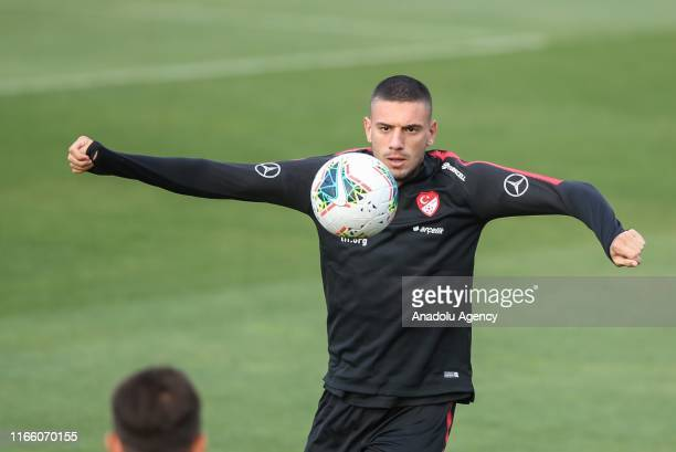 Merih Demiral attends a training session of Turkey National Football Team ahead of UEFA European Qualifying Group H matches against Andorra and...