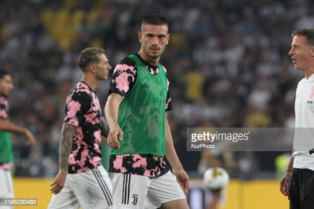 Merih Demiral during the Serie A football match between Juventus FC and SSC Napoli at Allianz Stadium on August 31 2019 in Turin Italy Juventus won...