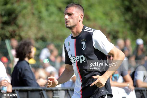 Merih Demiral #j28 of Juventus FC during the pre-season friendly match between Juventus A and Juventus B at Campo Comunale Gaetano Scirea on August...