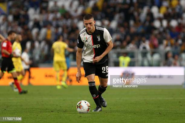 Merih Demiral of Juventus FC in action during the Serie A match between Juventus Fc and Hellas Verona Fc Juventus Fc wins 21 over Hellas Verona
