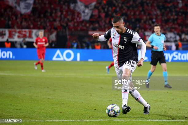 BAYARENA LEVERKUSEN GERMANY Merih Demiral of Juventus FC in action during the Uefa Champions League Group D match between Bayer Leverkusen and...