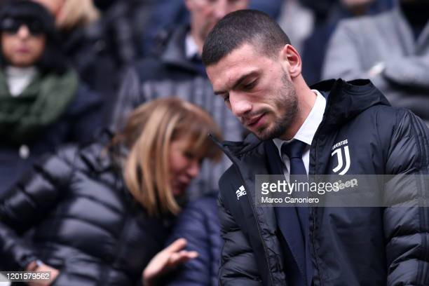 Merih Demiral of Juventus FC looks on before the Serie A match between Juventus Fc and Brescia Calcio. Juventus Fc wins 2-0 over Brescia Calcio.