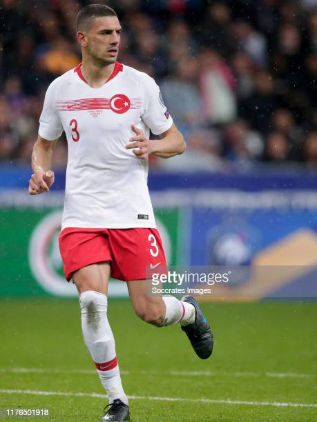 Merih Demiral of Turkey during the EURO Qualifier match between France v Turkey at the Stade de France on October 14 2019 in Paris France