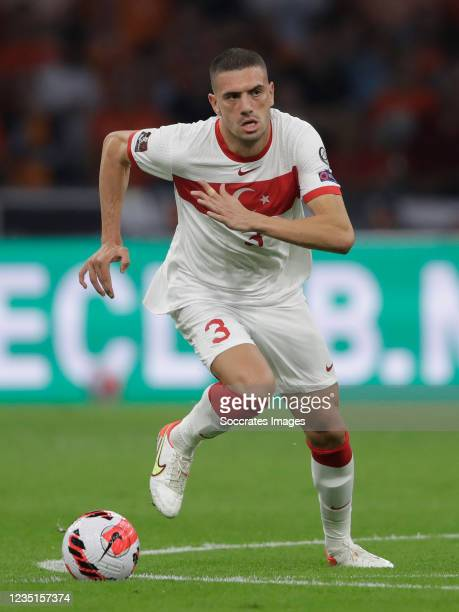 Merih Demiral of Turkey during the World Cup Qualifier match between Holland v Turkey at the Johan Cruijff Arena on September 7, 2021 in Amsterdam...