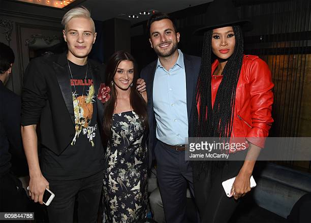 Merika Palmiste Jade Roper Tanner Tolbert and Margeaux Simms attend The Season 6 Premiere of Marriage Boot Camp Reality Stars at Up Down on September...