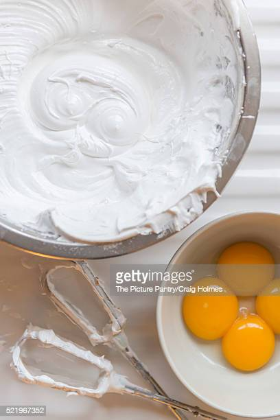 meringue mixture - egg white stock pictures, royalty-free photos & images