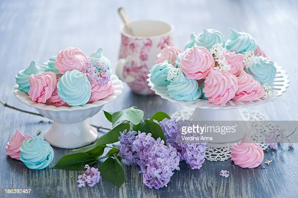 meringues - anna verdina stock photos and pictures