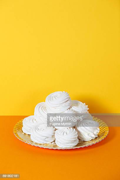 meringues - egg white stock pictures, royalty-free photos & images