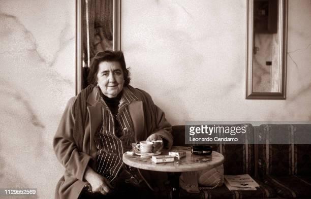 Merini Alda portrait writer Milan Italy 1996
