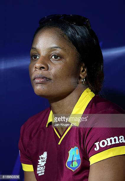 Merissa Aguilleira of the West Indies looks on during the Women's ICC World Twenty20 India 2016 match between West Indies and Pakistan at MA...