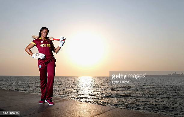 Merissa Aguilleira of the West Indies poses during a West Indies Portrait Session on March 30 2016 in Mumbai India