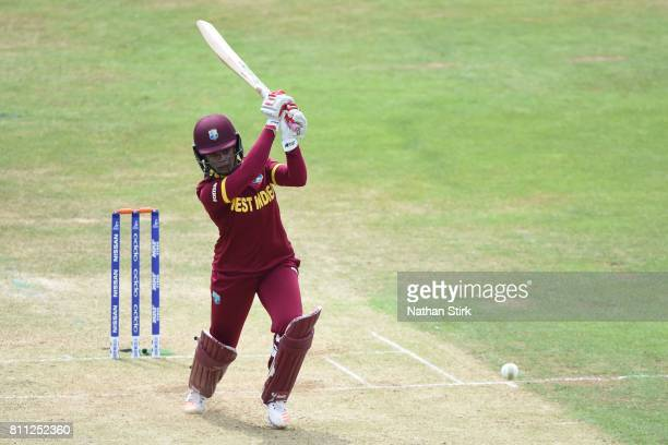 Merissa Aguilleira of West Indies batting during the ICC Women's World Cup 2017 match between West Indies and Sri Lanka at The 3aaa County Ground on...