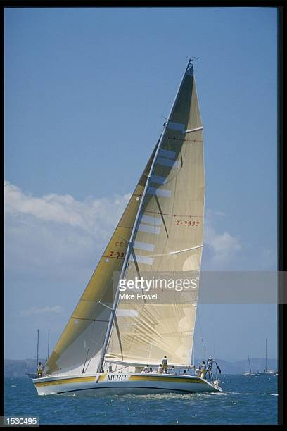 Merit sailing at full mast during the Whitbread round the world yacht race Mandatory Credit Mike Powell/Allsport