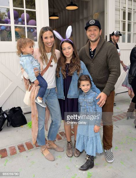 Meritt Elliott and family attend AKID Brand's 3rd Annual 'The Egg Hunt' at Lombardi House on March 17 2018 in Los Angeles California