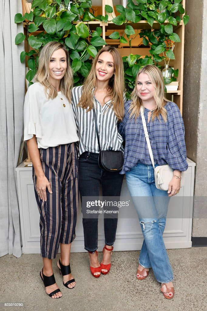 Meritt Elliott, Jessica Alba and Emily Current at Cuyana Essential Women Event on July 26, 2017 in West Hollywood, California.