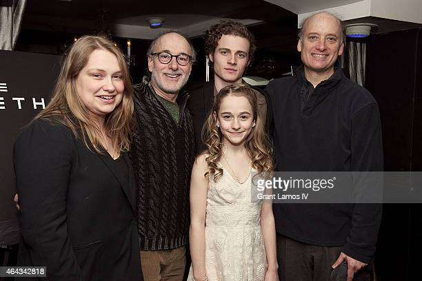 Meritt Wever Peter Friedman Ben Rosenfield Sophia Anne Caruso and Frank Wood attend 'The Nether' opening night after party on February 24 2015 in New...