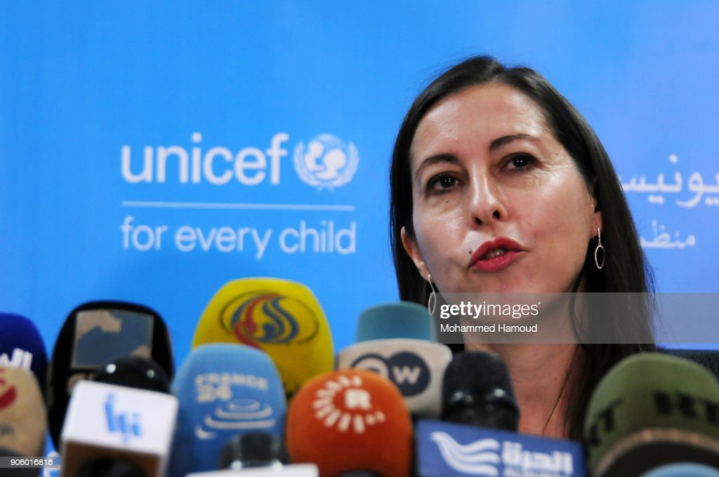 UNICEF Representatives Hold A Press Conference In War Torn Sana'a