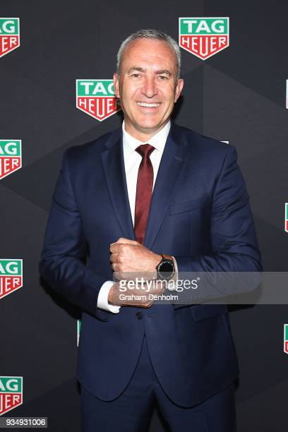 Merk Beretta arrives at the TAG Heuer Australia Grand Prix Party at Luminare on March 20 2018 in Melbourne Australia