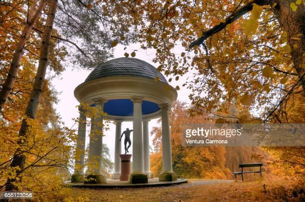merkur temple - bergpark wilhelmshöhe - kassel, germany - mercury transit stock photos and pictures