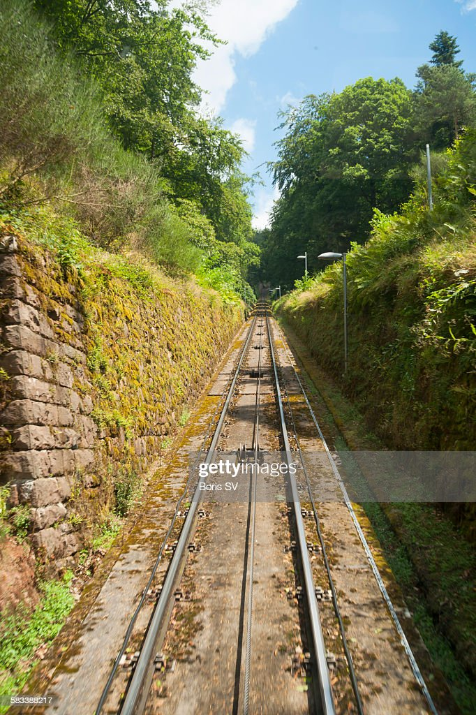 Merkurbergbahn - Merkur Funicular : Stock Photo